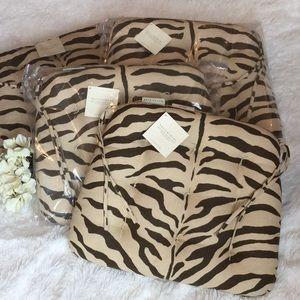 🆕Pottery Barn Zebra Tufted Dining Cushions